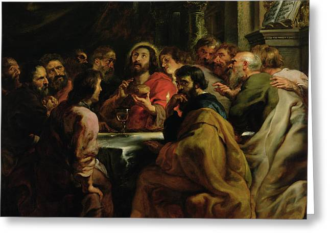 The Last Supper Greeting Card by Rubens