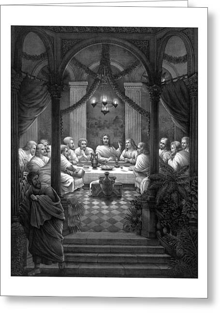 Judas Greeting Cards - The Last Supper Greeting Card by War Is Hell Store