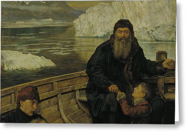Collier Paintings Greeting Cards - The Last Voyage of Henry Hudson Greeting Card by John Collier