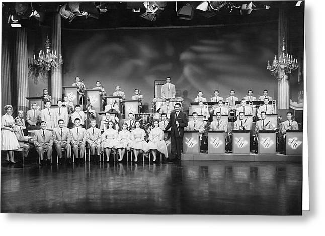 1950s Music Greeting Cards - The Lawrence Welk Show Greeting Card by Underwood Archives