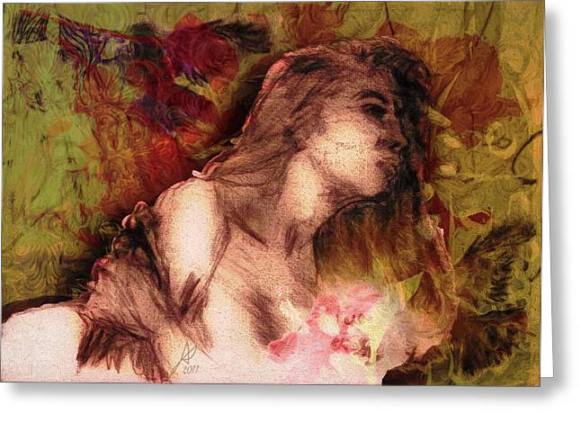 Fineartamerica Greeting Cards - The Left Handed Portrait Greeting Card by Andrea Ribeiro