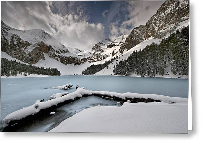 Hitech Greeting Cards - The Legend Of The Lady Of The Lake Greeting Card by David Martin Castan