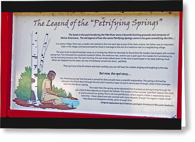 Greeting Cards - The Legend of the Petrifying Springs Greeting Card by Kay Novy