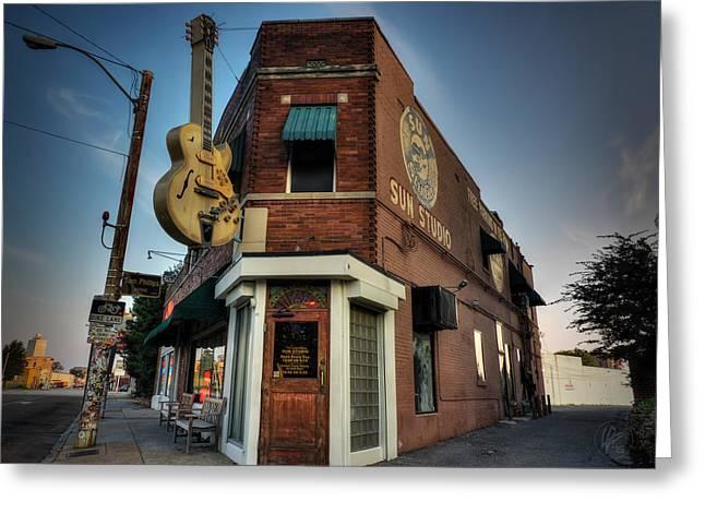 Tennessee Landmark Greeting Cards - The Legendary Sun Studio 002 Greeting Card by Lance Vaughn