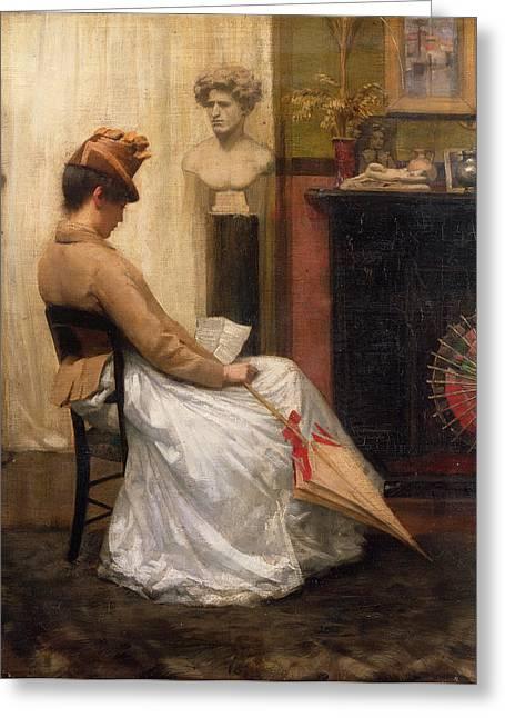 The Letter Greeting Card by Henry John Hudson