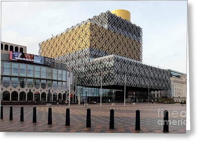 Rep Greeting Cards - The Library of Birmingham 2 Greeting Card by John Chatterley