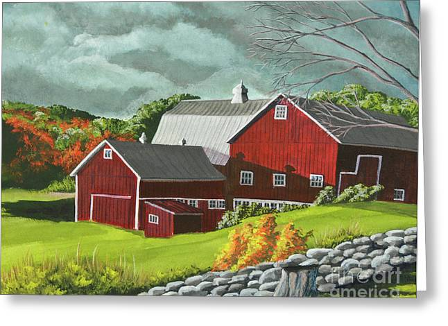 Upstate Paintings Greeting Cards - The Light After The Storm Greeting Card by Charlotte Blanchard