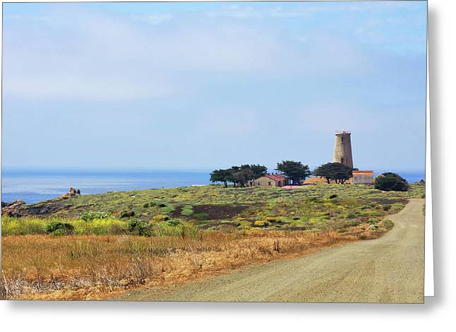 Lookout Greeting Cards - The Light At Piedras Blancas - San Simeon California Greeting Card by Christine Till