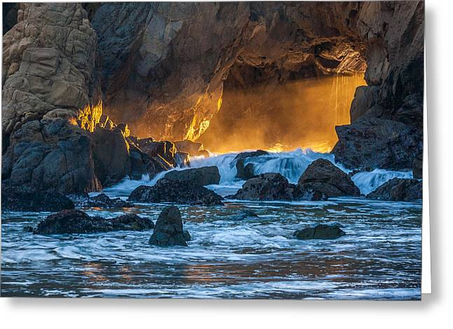 The Light - Big Sur Greeting Card by Mark Christian