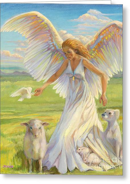 Religious Paintings Greeting Cards - The Light from Within Greeting Card by Joose Hadley