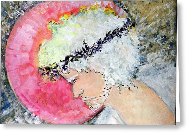 Gouache Mixed Media Greeting Cards - The Light Greeting Card by Mindy Newman