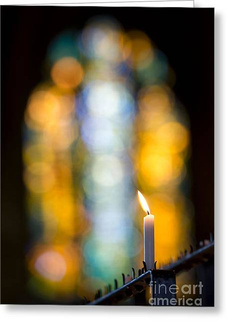 The Light Of Prayer Greeting Card by Tim Gainey