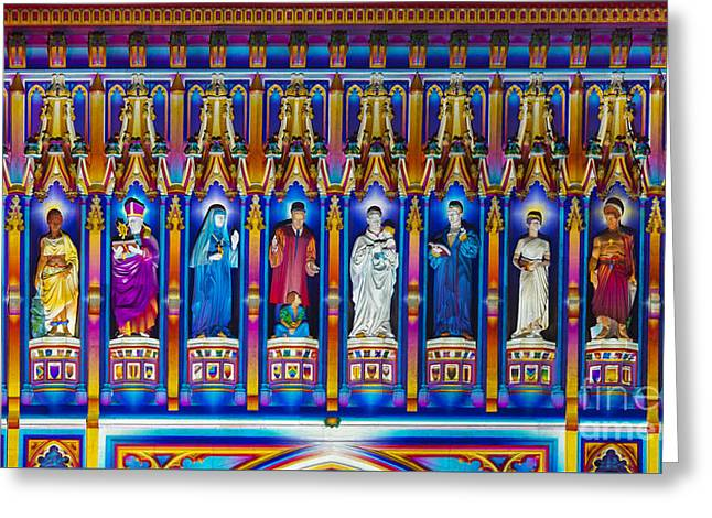 The Light Of The Spirit Westminster Abbey Greeting Card by Tim Gainey