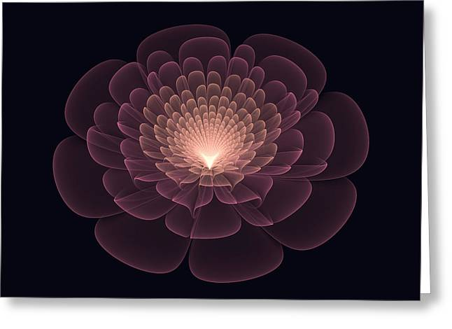 Festivities Greeting Cards - The Light Within Greeting Card by Lena Kouneva