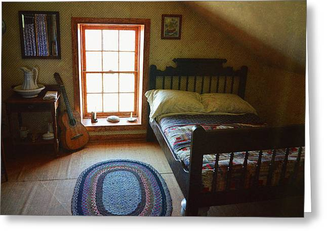 Old Digital Art Greeting Cards - The Lighthouse Keepers Bedroom - San Diego Greeting Card by Glenn McCarthy Art and Photography