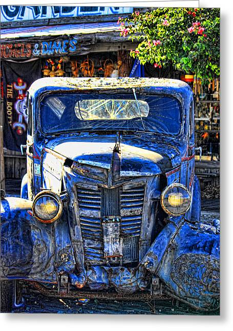 Old Trucks Greeting Cards - The Lights Work Greeting Card by Joetta West