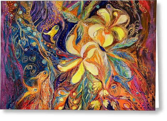 The Lilies of Galilee Greeting Card by Elena Kotliarker