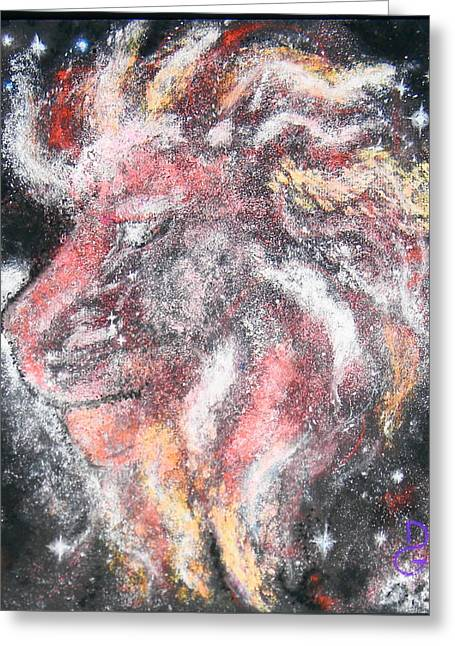 Astrology Pastels Greeting Cards - The Lion Greeting Card by Dennis Goodbee