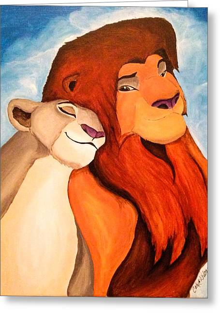 Lioness Greeting Cards - The Lion King Greeting Card by Catherine  Carbone