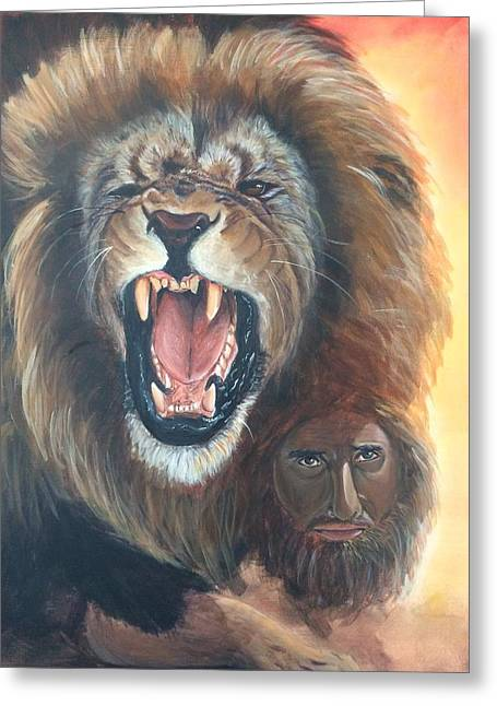 The Lion Of Judah Greeting Card by Darlene Pyle
