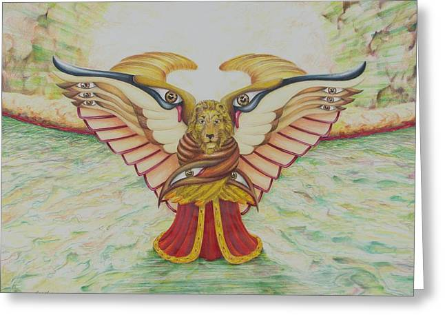 The Lion Greeting Card by Rick Ahlvers