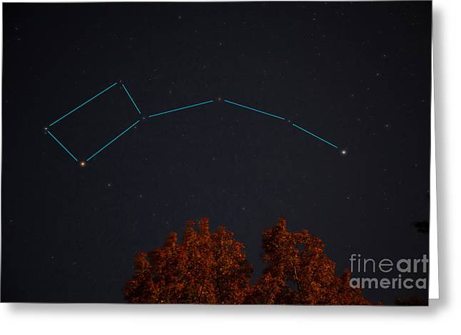 The Little Dipper Constellation Greeting Card by Larry Landolfi
