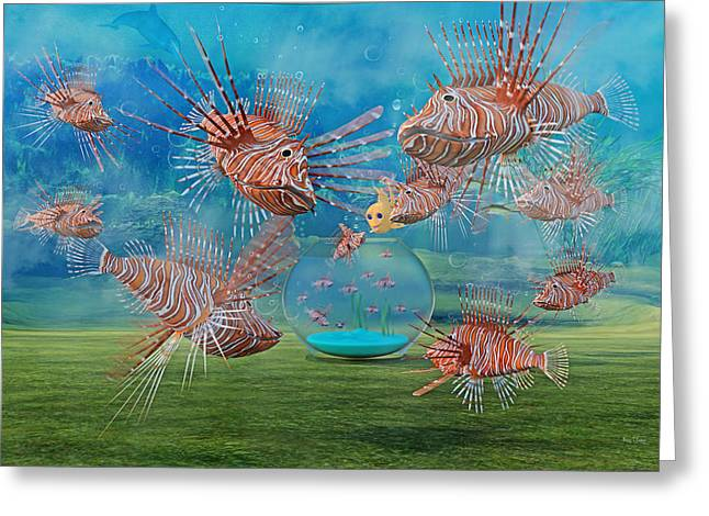 The Little Fish Greeting Card by Betsy Knapp