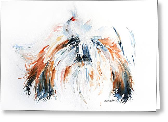 Shih-tzu Greeting Cards - The Little Horror Greeting Card by Stephie Butler