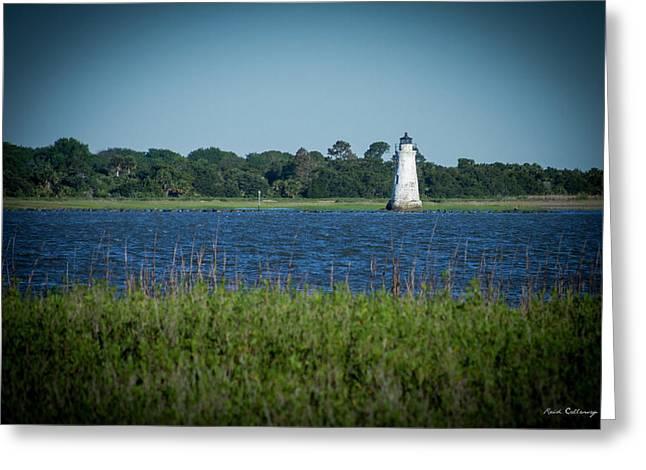 The Little Light Tybee Island Lighthouse Art Greeting Card by Reid Callaway