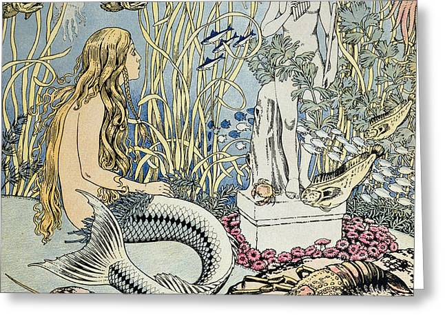 The Little Mermaid Greeting Card by Ivan Jakovlevich Bilibin