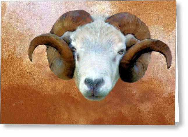 Kelly Greeting Cards - The little Ram Greeting Card by Valerie Anne Kelly