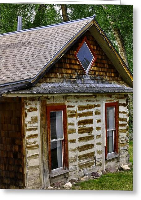 ist Photographs Greeting Cards - The Little Red Window Cabin  In Bannack Greeting Card by Image Takers Photography LLC - Laura Morgan
