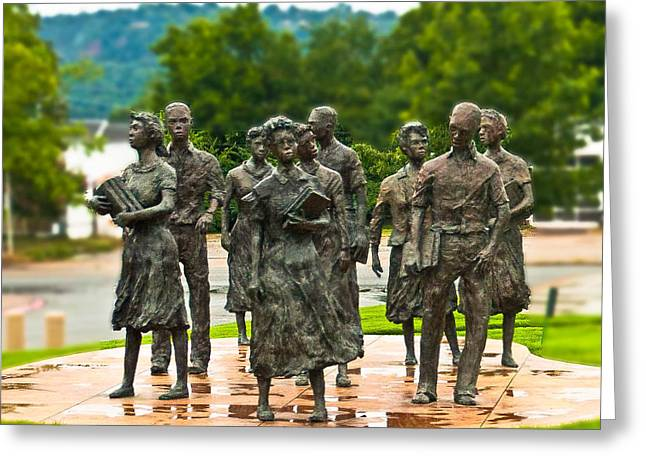 Recently Sold -  - African-american Greeting Cards - The Little Rock Nine Greeting Card by Dr Arnold Hence