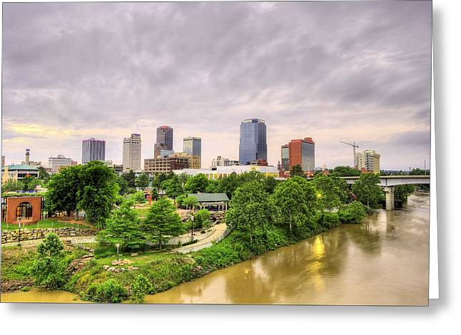 Little Rock Arkansas Greeting Cards - The Little Rock Skyline Greeting Card by JC Findley