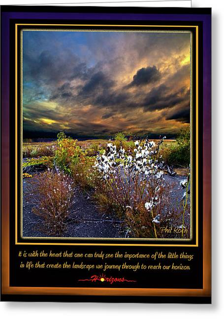 Myhorizonart Greeting Cards - The Little Things Greeting Card by Phil Koch