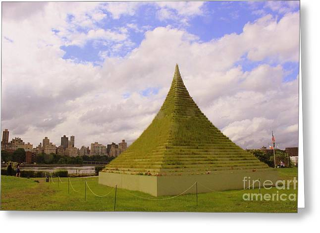 Artist Photographs Greeting Cards - The Living Pyramid and Manhattan Skyline Greeting Card by  Photographic Art and Design by Dora Sofia Caputo