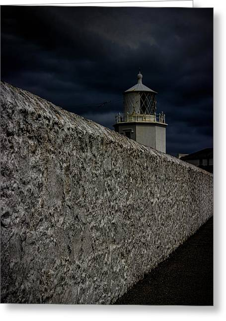 Storm Clouds Greeting Cards - The Lizard Lighthouse Greeting Card by Martin Newman