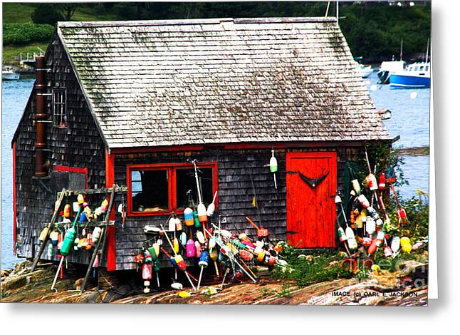 Lobster Shack Greeting Cards - The Lobster Shack 1 Greeting Card by Carl Jackson