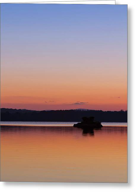 Best Sellers -  - Gloaming Greeting Cards - The Loch of Skene Sunset Greeting Card by Bill Buchan