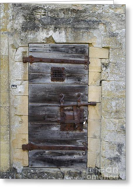 Entrance Door Greeting Cards - The Locked Door Greeting Card by Michelle Meenawong