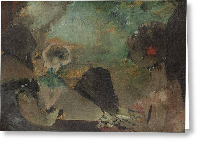 Famous Artist Greeting Cards - The Loge Greeting Card by Edgar Degas