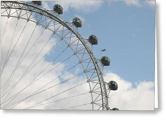 Airoplane Greeting Cards - The London Eye Greeting Card by Christopher Rowlands