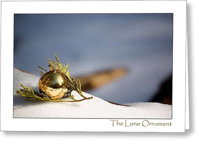 Idyllwild Greeting Cards - The Lone Ornament - 4th Edition Greeting Card by Peter Tellone