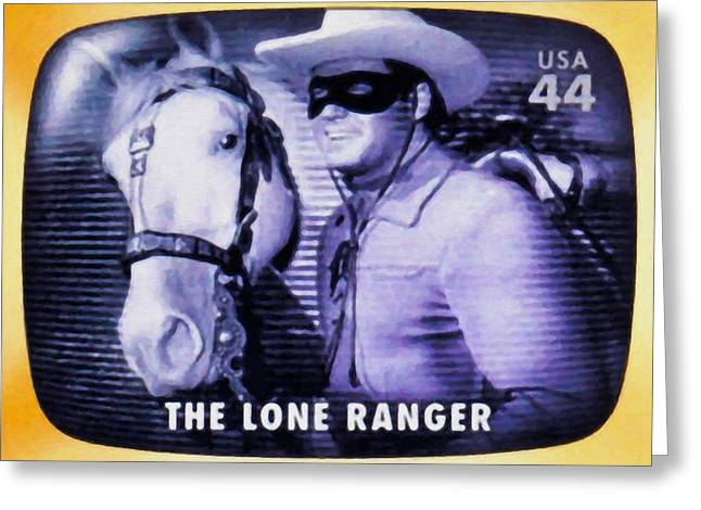 Lone Horse Paintings Greeting Cards - The Lone Ranger Greeting Card by Lanjee Chee