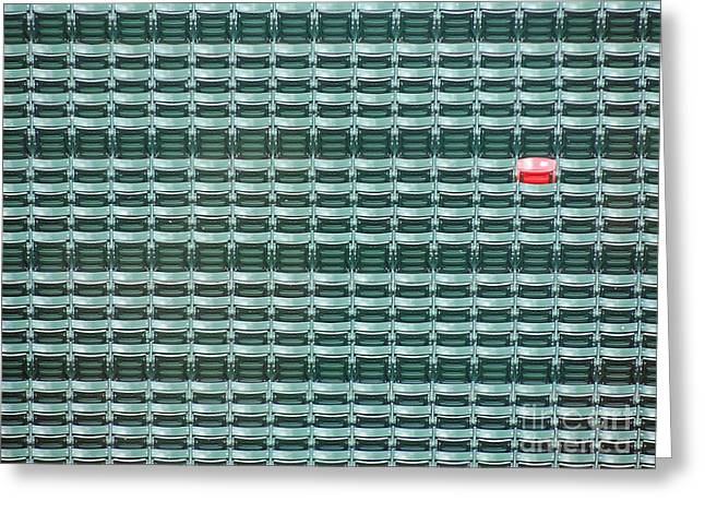 The Lone Red Seat At Fenway Park Greeting Card by Keith Ptak