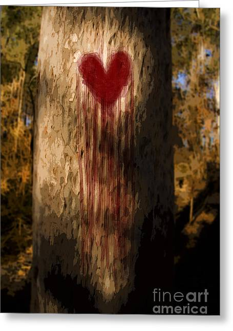 First Love Greeting Cards - The Lonely Tree Greeting Card by Ryan Jorgensen