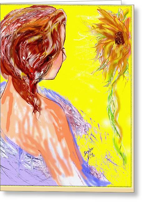 The Long Hot Summer Greeting Card by Desline Vitto