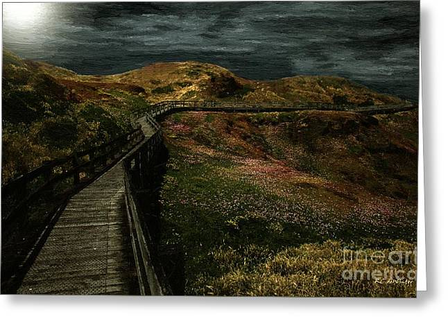 Impressionist Greeting Cards - The Long Road Home Greeting Card by RC deWinter