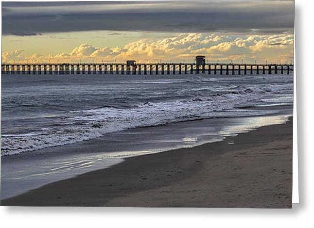 Storm Clouds Greeting Cards - The Long Walk Greeting Card by Peter Tellone