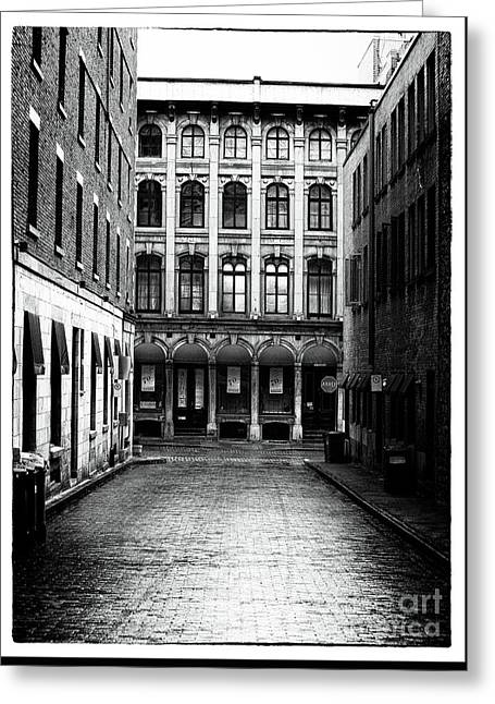 Empty Street Greeting Cards - The Long Walk to the End Greeting Card by John Rizzuto